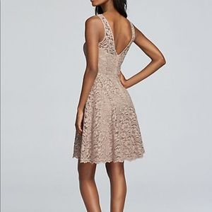 David's Bridal Dresses - David's Bridal Lace Bridesmaid Dress
